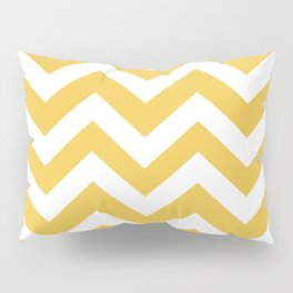Maize (Crayola) - yellow color -  Zigzag Chevron Pattern Pillow Sham