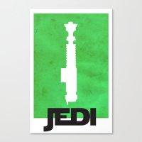 jedi Canvas Prints featuring Vintage Jedi by Fletcher McKinney
