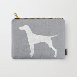 Vizsla minimal basic grey and white dog art dog breed pet portraits dog breeds Carry-All Pouch