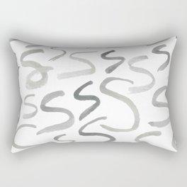 Watercolor S's - Grey Gray Rectangular Pillow