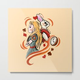 Alice and Wh Metal Print