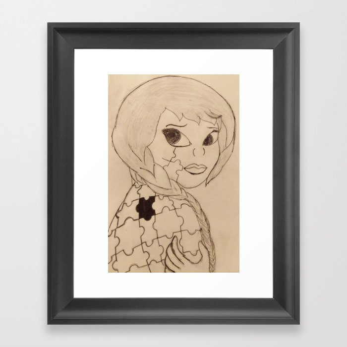 missing peace Framed Art Print