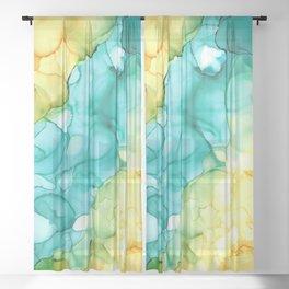 Blue Passing Through Sheer Curtain