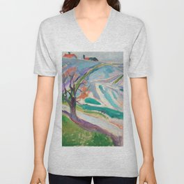 Edvard Munch - Landscape of Kragerø Unisex V-Neck