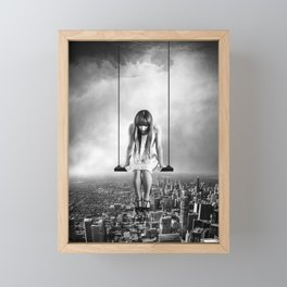 Girl Looking from Above Framed Mini Art Print