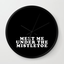 Mistletoe Kiss Wall Clock