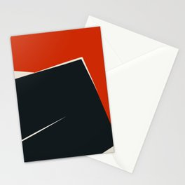Mid century geometric large abstract Stationery Cards