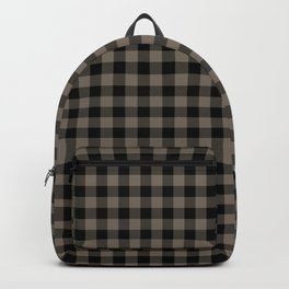 Classic Sandstone Brown Country Cottage Summer Buffalo Plaid Backpack