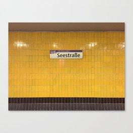 Berlin U-Bahn Memories - Seestraße Canvas Print