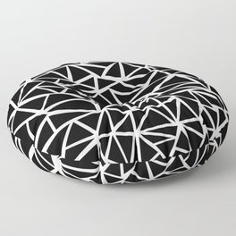 Mozaic Triangle Black Floor Pillow