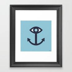 Happy Cyclops Anchor Framed Art Print