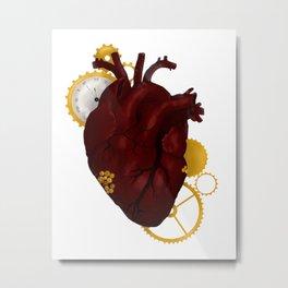Clockwork Heart Metal Print