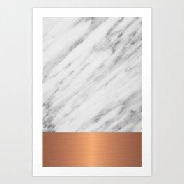 Carrara Italian Marble Holiday Rose Gold Edition Art Print