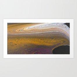 Purple & Gold Art Print