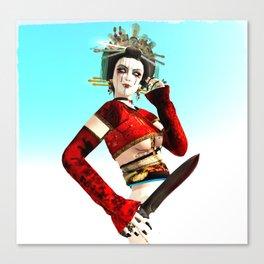 The Mad Geisha Canvas Print