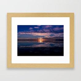 Crescent Beach Sunset Framed Art Print