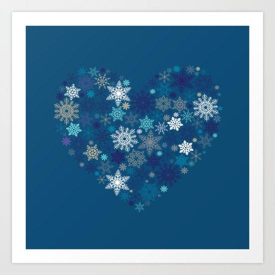 Heart of Christmas Art Print