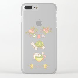 Hare and Tortoise -pattern- Clear iPhone Case