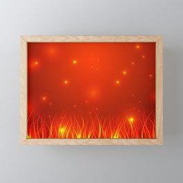 Flames from the fire and spark. Framed Mini Art Print