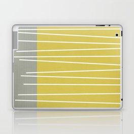 MId century modern textured stripes Laptop & iPad Skin