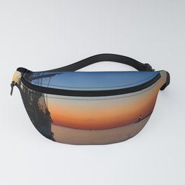 Blue hour in the harbor Fanny Pack