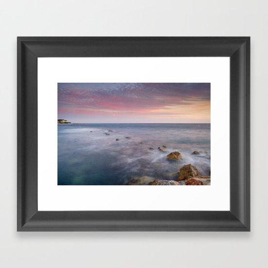 Pink seasunset Framed Art Print