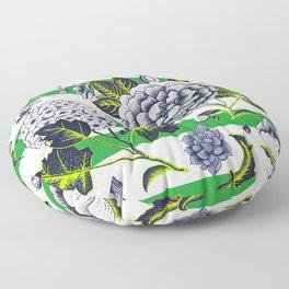 Modern Vintage Florals Floor Pillow