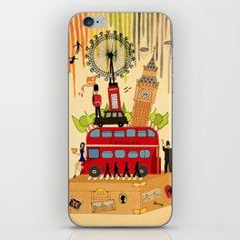 Rainbow Cities ~ London iPhone Skin