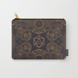 Steampunk Critical Hit Mechanical Polyhedral D20 Dice Tabletop RPG Gaming Carry-All Pouch