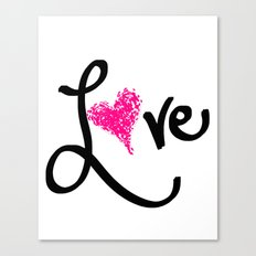 Love with your heart Canvas Print