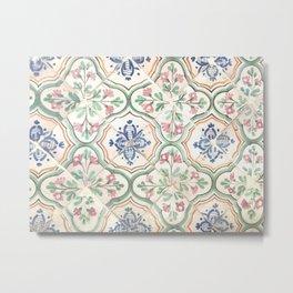 Tiles of Tunisia Metal Print