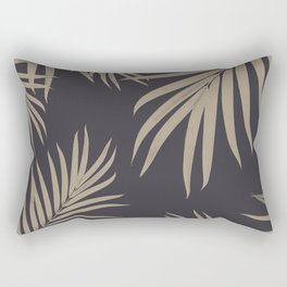 Palm Leaves Pattern Sepia Vibes #2 #tropical #decor #art #society6 Rectangular Pillow