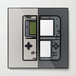 Old & New Nintendo Handheld Consoles Metal Print
