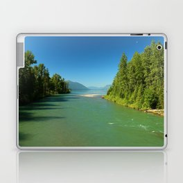 Green Waters Of McDonald River And Lake Laptop & iPad Skin