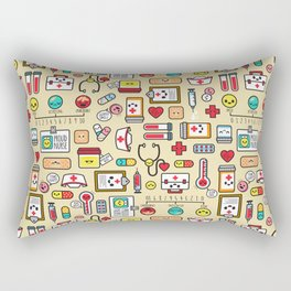 """Proud To Be A Nurse"" Pattern Rectangular Pillow"