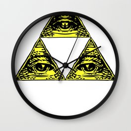 all seeing triforce Wall Clock