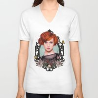hayley williams V-neck T-shirts featuring Hayley Williams  by Will Costa