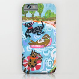 Dogs at Play iPhone Case