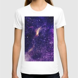 Ultra violet purple abstract galaxy T-shirt