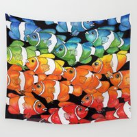 clown Wall Tapestries featuring Clown Fish by MadDog