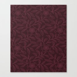 Tawny Port Lace Floral Canvas Print