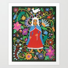 The Blessed Mother Art Print