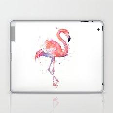 Pink Flamingo Watercolor | Tropical Animals Bird Flamingos Laptop & iPad Skin