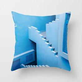 Blue maze of Muralla Roja Spain | Abstract photograph architecture art Throw Pillow