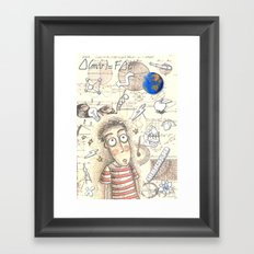 SCIENCE WORLD Framed Art Print
