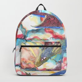Dragon on the morning sky Backpack