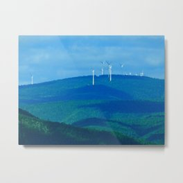 Windmills on the Hill Metal Print