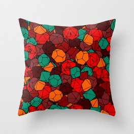 Dice Bag Throw Pillow