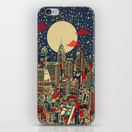 philadelphia city skyline iPhone Skin