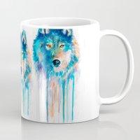 wolf Mugs featuring Wolf by Slaveika Aladjova